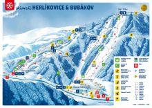 mapa areálu Herlíkovice - Bubákov