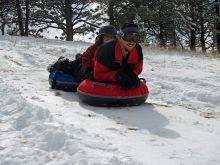 jízda na duších - snowtubing